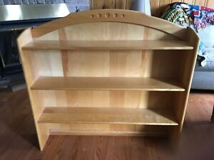 Solid birch hutch bookshelf