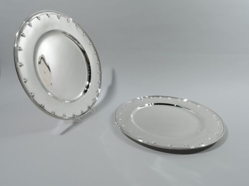 Tiffany Saint St Dunstan Plates 17630B Dinner Charger American Sterling Silver