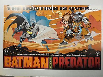 RARE 1991 ~ BATMAN VS PREDATOR ~ Comic PROMO Poster ~  Andy Kubert Dark Horse DC