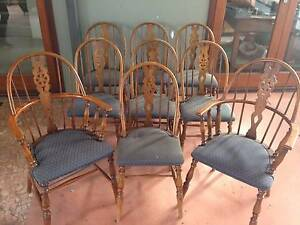 Nine 9 Antique Windsor Bentwood Chairs Mount Hawthorn Vincent Area Preview