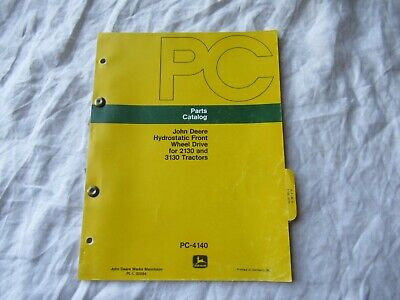 John Deere Hydrostatic Front For 2130 3130 Tractor Parts Catalog Manual Book