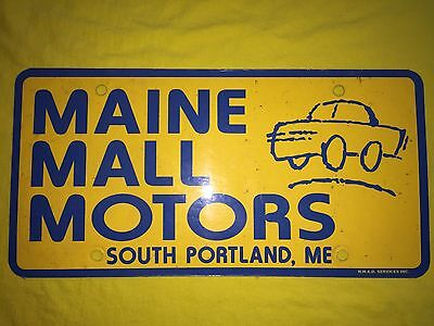 Dealership License Plate - Maine Mall Motors - South Portland, ME - (Maine Mall South Portland)