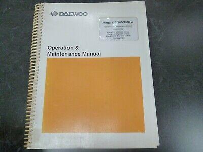Daewoo Mega 130 160 160tc Wheel Loader Owner Operator Maintenance Manual
