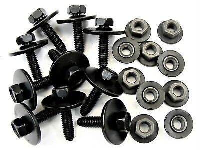 #133 M8-1.25mm x 25mm Long Mopar Body Bolts /& Flange Nuts 13mm Hex Qty.10 ea