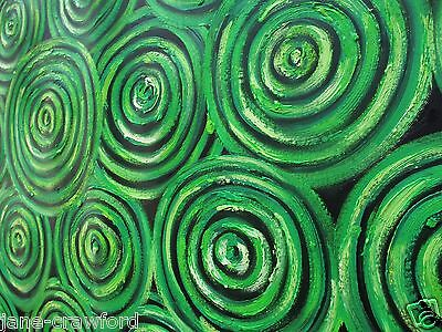 Art Painting GREEN  dreampools aboriginal By Jane COA Australia artwork modern