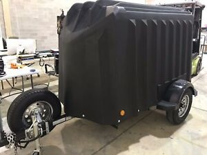 Yuppie Wagon 4 x 7 ABS Plastic Trailer w/ Ramp Door