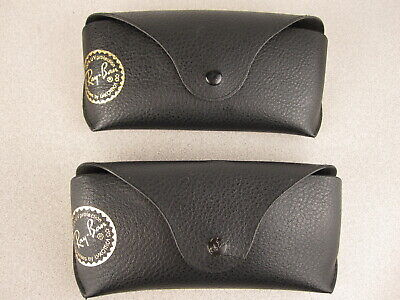 Lot 2 Vintage RAY-BAN Sunglasses by Luxotica Black Snap Cases GOLD EMBLEM VG-EX (Ray Ban Emblem)