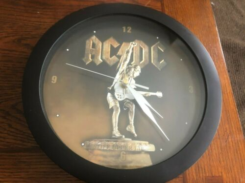 """AC/DC Stiff Upper Lip Wall Clock 11"""" Excellent Condition - Works Great"""