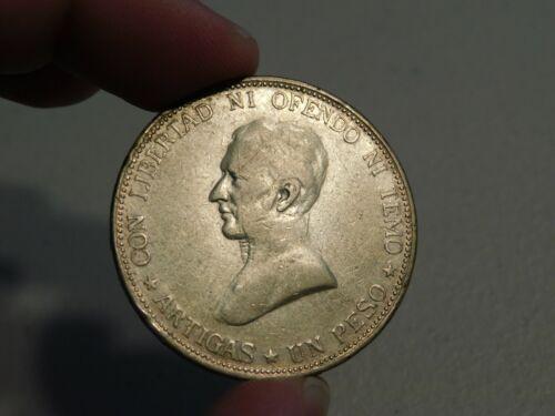 Scarce 1917 Uruguay Silver Peso - Nice Pleasing Tone
