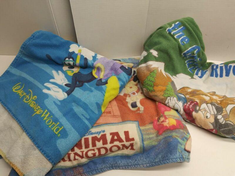 Vintage Walt Disney World Beach Towel Lot Animal Kingdom River Run Mickey Minnie