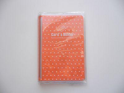 Orange Vinyl Businesscredit Card Case Holders Organizers Card Colletion Bn