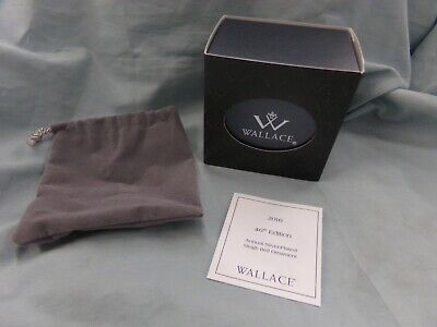 Wallace 2016 Silver Plated Sleigh Bell Ornament 46th Ed Box, Bag, Card Only