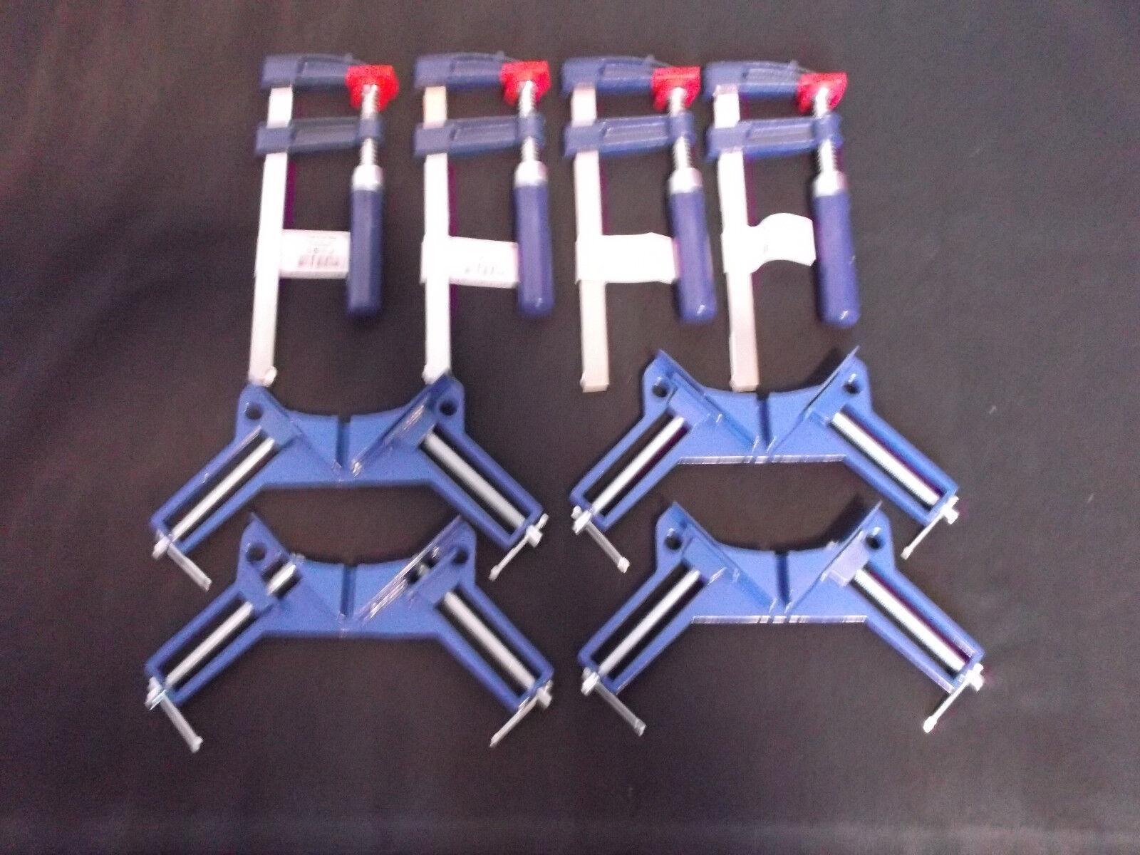 4x SCHRAUBZWINGEN 150x50mm + 4 GEHRUNGSZWINGEN/WINKELSPANNER 75mm = SET