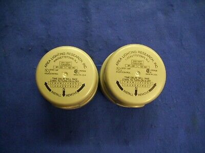 Lot Of 2 Bf-120 Lr27428 Area Lighting Research Inc. Photo Electric Control Units
