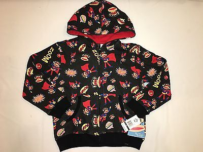 NWT $44 PAUL FRANK The collection hoodie jacket BOY size 6 black (Paul Frank Collection)