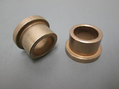 Bronzed Flanged Bushing 34 X 1 X 34 Lot Of 2