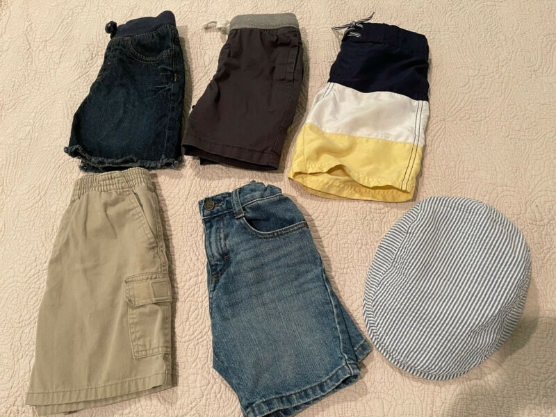 janie and jack boys shorts size 5 T &4more shorts +hat