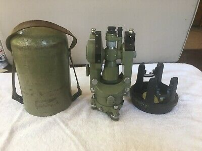Wild Heerbrugg Theodolite Switzerland T16 Survey Equipment With Carrying Case