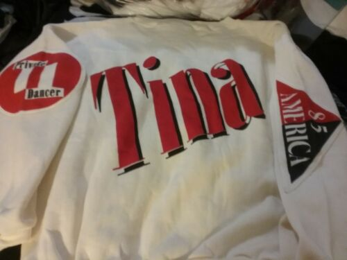 TINA TURNER 85 PRIVATE DANCER JACKIE HARRIS SWEATSHIRT 1 SZ UNWORN RARE HTF VTG!