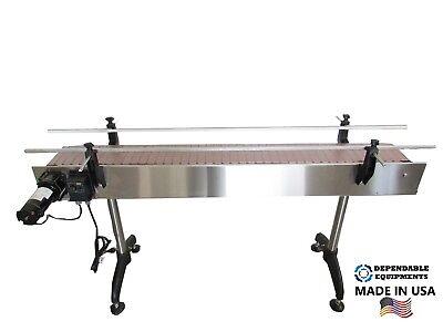 Dependable Equipments Conveyor 6x 7.5 With Plastic Table Top Belt