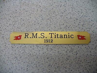 Kleines Namensschild für Modellständer  -  Titanic
