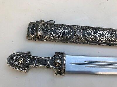 Caucasian Georgian Dagger Kindjal Kama Silver Gift Sword Qama