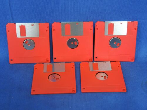 "Staples 3.5"" micro floppy disc MB Diskettes by Staples (Lot of 5 pcs)"
