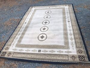8 x 11 feet area rug.    Made in Egypt.