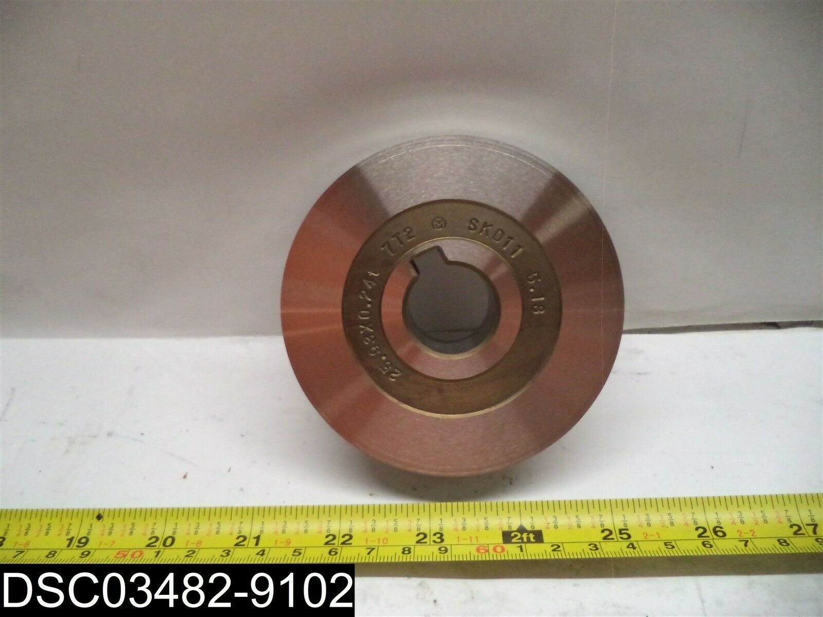 """7T2 Metal Disk W/Notched Bore 3-3/4"""" Dia. 1"""" Bore, 1-1/16"""" Thickness"""