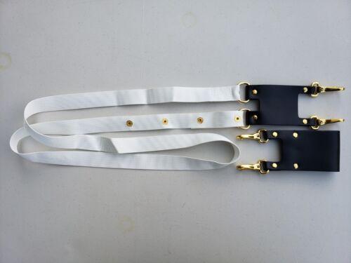 2 Pcs KNIGHT TEMPLAR SWORD SLING and BELT HOLDER SCABBARD Gold Hardware