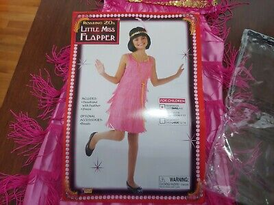 Roaring 20s Little Miss Flapper pink Used Small 4-6 Great condition Costume