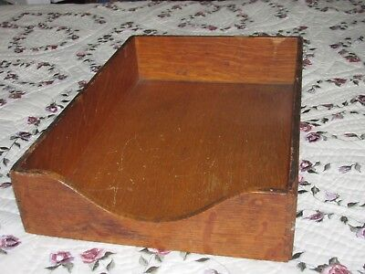 Used, Antique Oak Desk File Tray with Dovetailed Corner Construction & Felt Base for sale  Shipping to Canada