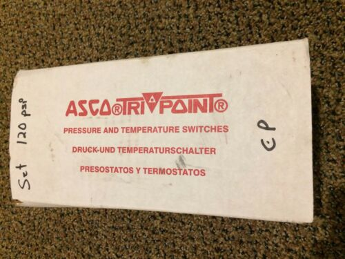 ASCO SD11D Tri Point Pressure Switch