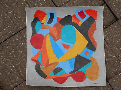 ORIGINAL,SIGNED,ABSTRACT COLORED PENCIL DRAWING