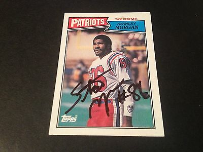 Stanley Morgan Patriots 1987 Topps Signed Auto Card