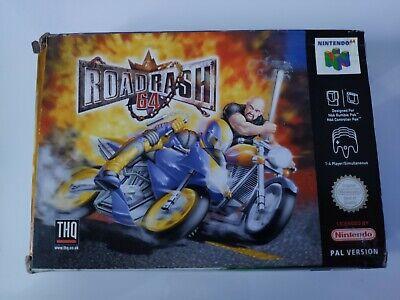 Road Rash 64 Nintendo N64 - Complete & Boxed - Free P&P *Very Rare Game*