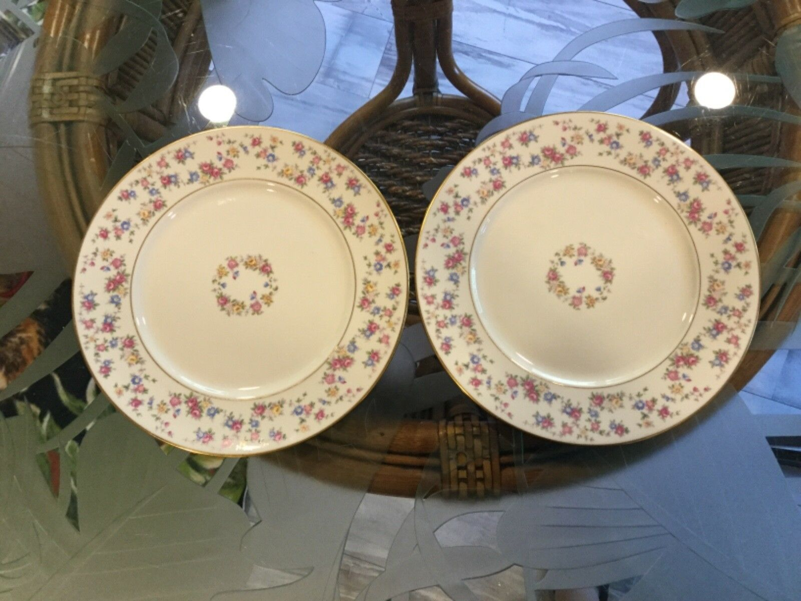 "Lamberton Ivory China REVERIE 6 3/4"" Bread Plates - Set of 2"