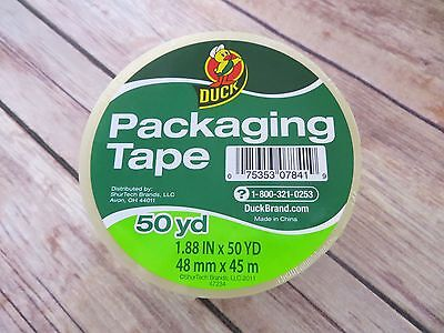 1 Roll Clear Duck Packaging Tape For Packing Shipping 1.88 X 50 Yds. Unopened