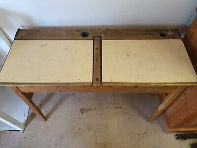 Vintage Double School Desk V&RF37