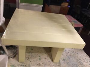 Yellow green coffee table
