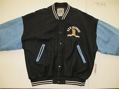 Retro B.U.M. Equipment Men's Varsity Jacket XL Hip Hop 90s Vintage BUM