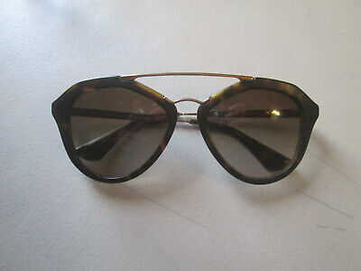Prada Tortoise Brown Sunglasses SPR12Q 2AU-6S1 FRAME ONLY 54[]18 135