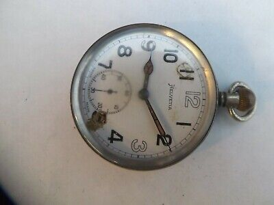a vintage plated cased helvetia military pocket watch
