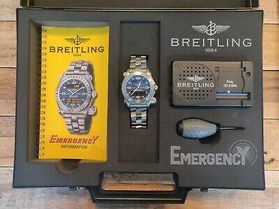 Brietling Emergency Blue Dial E76321