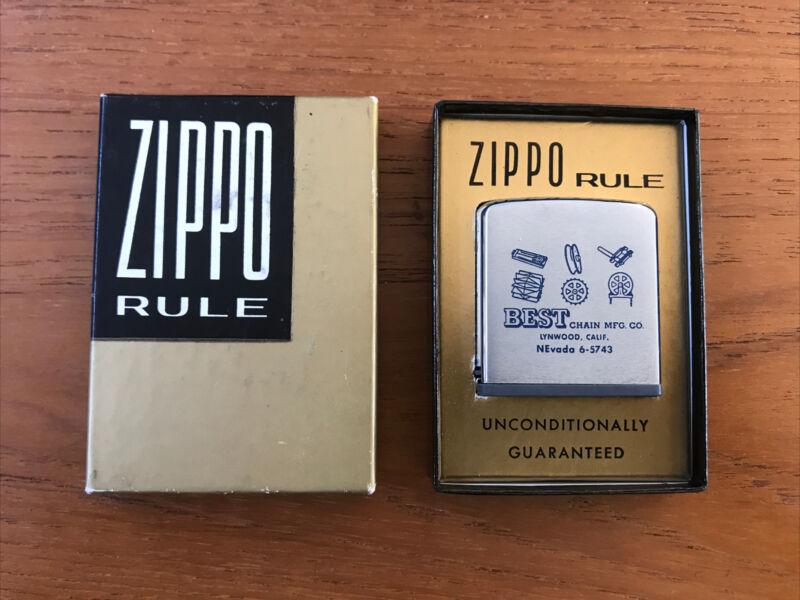 Vintage Best Chain Mfg CA Zippo Rule/ Ruler NIB