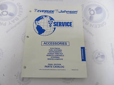 176238 OMC Evinrude Johnson Outboard Accessories Parts Catalog 1995
