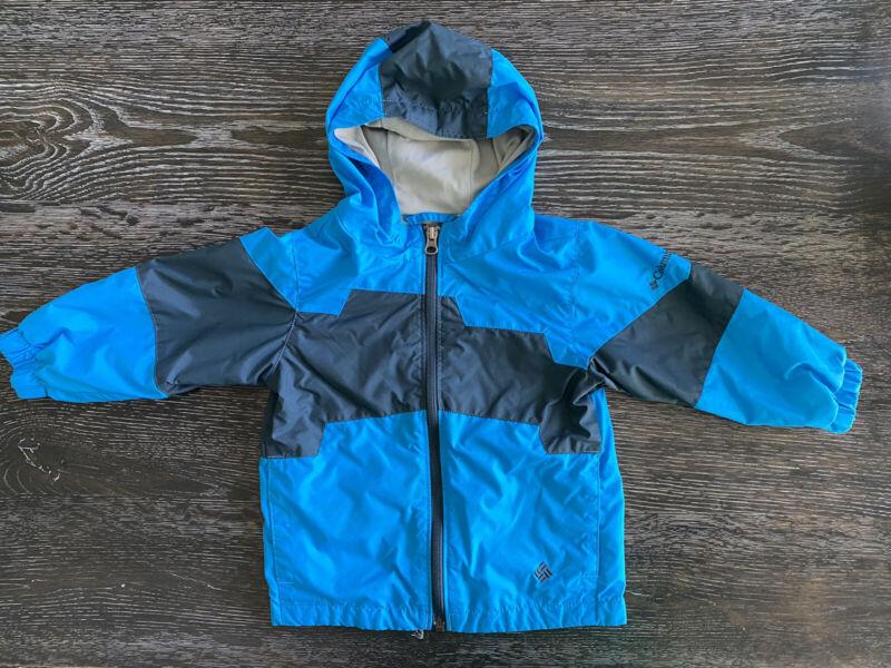 Columbia Sportwear Company Boys Toddler 2T Hooded Blue Windbreaker Jacket