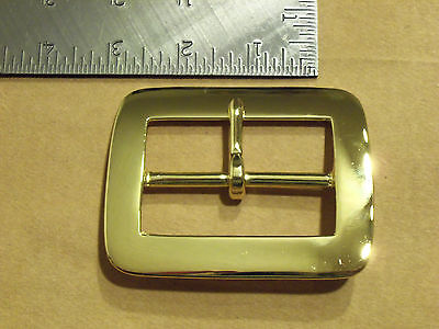 "2 1/2"" Solid Brass Middle Bar Santa Claus Belt Buckle"