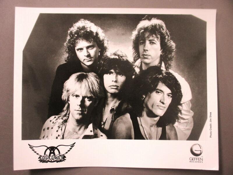 Aerosmith promo photo 8 X 10 glossy black & white photo Geffen Records !