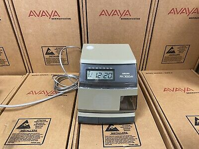 Amano Pix 3000xn Datetime Stamp Multi Functional Time Clock In Out